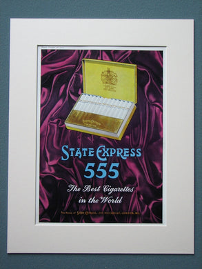 State Express 555 Cigarettes 1959 Original adverts (ref AD836)