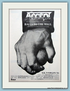 Accept, Balls To The Wall 1983 Original Advert (ref AD3172)