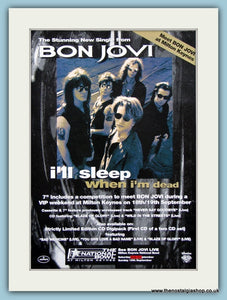 Bon Jovi, I'll Sleep When I'm Dead1993 Original Advert (ref AD3269)