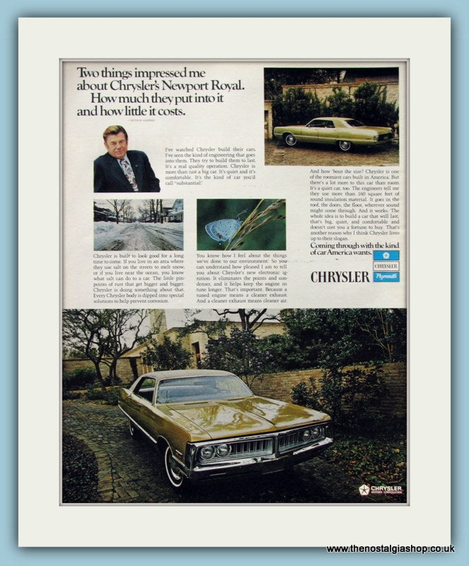 Chrysler Motor Corporation Original Advert 1971 (ref AD8304)