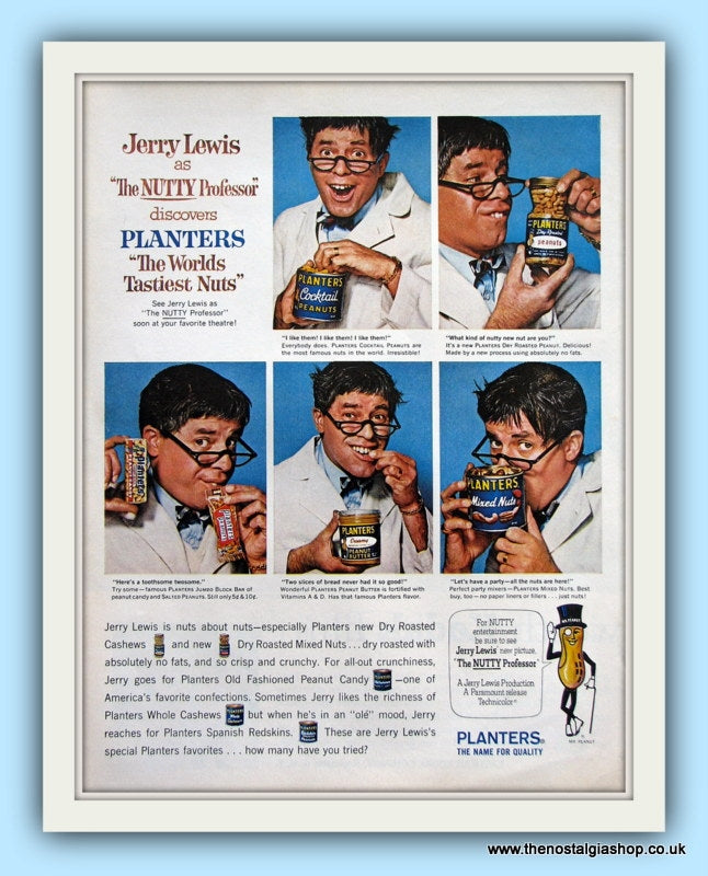 Jerry Lewis and Planters Nuts. Original Advert 1963 (ref AD8165)