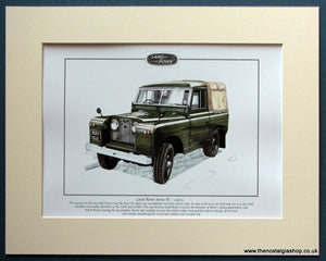 Land Rover Series II 1958-61 Mounted Print (ref PR3084)