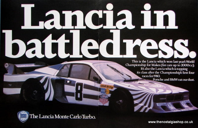Lancia Monte Carlo Turbo 1980 Double Original Advert (ref AD 1675)