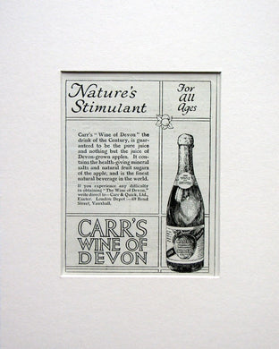 Carr's Wine of Devon. Original advert 1924 (ref AD1556)