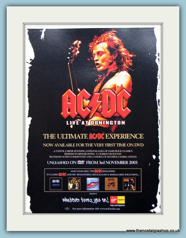 AC DC Live At Donington, Original Advert 2003 (ref AD3103)