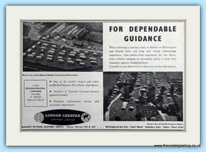 London Caravan Elstree & Birchington Displays  Original Advert 1953 (ref AD6321)