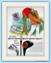 Load image into Gallery viewer, Goudie 1968 Dave Thomas Clubs. 2 x Original Adverts (ref AD4991)