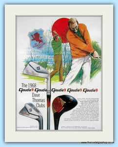 Goudie 1968 Dave Thomas Clubs. 2 x Original Adverts (ref AD4991)