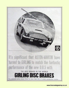 Aston Martin DB5 Set Of 4 Original Adverts 1963 (ref AD6722)