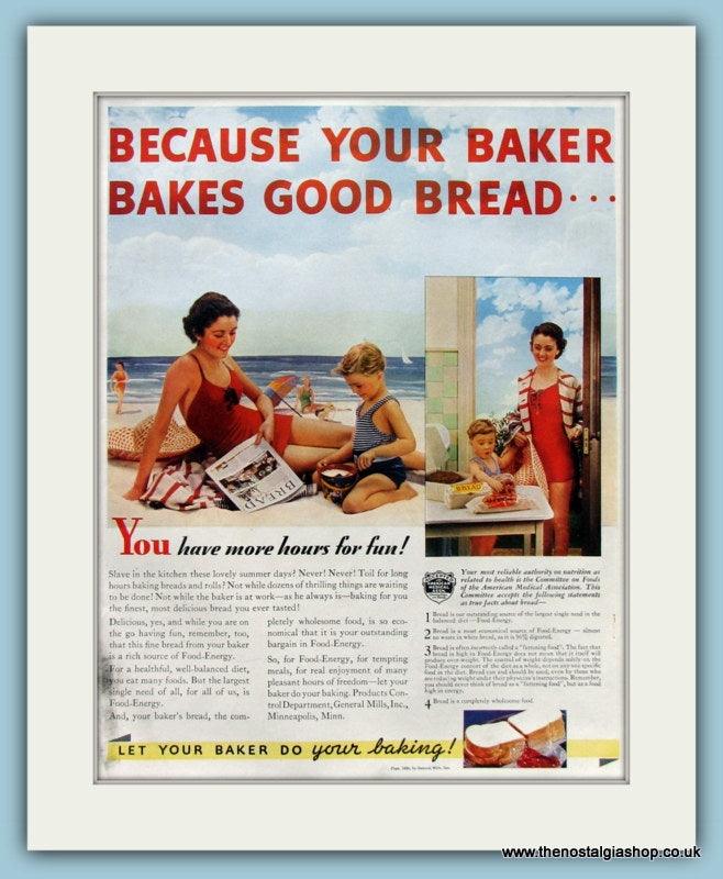 Baker Does Your Baking Original Advert 1955 (ref AD8319)