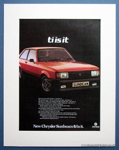 Chrysler Sunbeam 1979 Original Advert (ref AD1486)