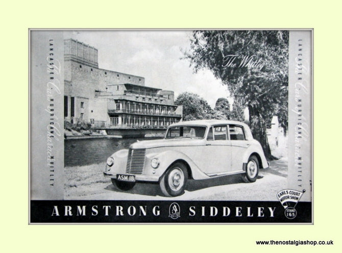 Armstrong Siddeley Earls Court Motor Show Original Advert 1951 (ref AD6671)