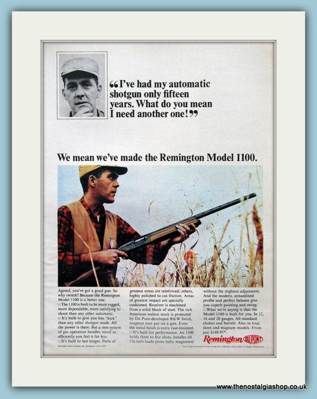 Remington Arms Model 1100 Original Advert 1965 (ref AD3898)
