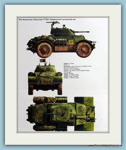 American Chevrolet T17E1 Staghound I Armoured Car Print (ref PR494)