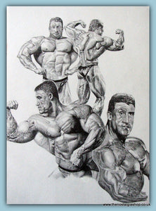Dorian Yates 6 x Mr Olympia. Limited Edition Signed Print.