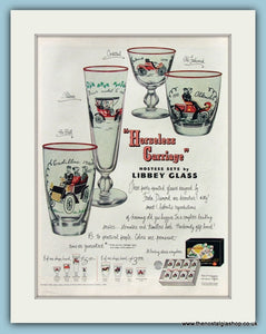 "Libbey Glass "" Horseless Carriage"" Original Advert 1950 (ref AD8314)"