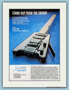 Hohner Guitars. Original Advert 1991 (ref AD2687)