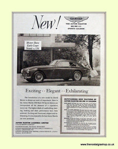 Aston Martin DB MKIII Sports Saloon Original Advert 1957 (ref AD6706)