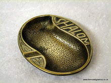 Load image into Gallery viewer, Brass Ash tray Jewish. (ref nos060a)