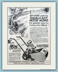 Qualcast Motor Mower. Original Advert 1935 (ref AD4618)
