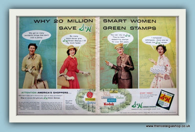 S & H Green Stamps. Original Advert 1956 (ref AD8150)