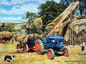 Fordson 'Building A Hayrack' Tractor Print (ref N123)