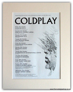 Coldplay UK Tour Advert 2002 (ref AD1772)