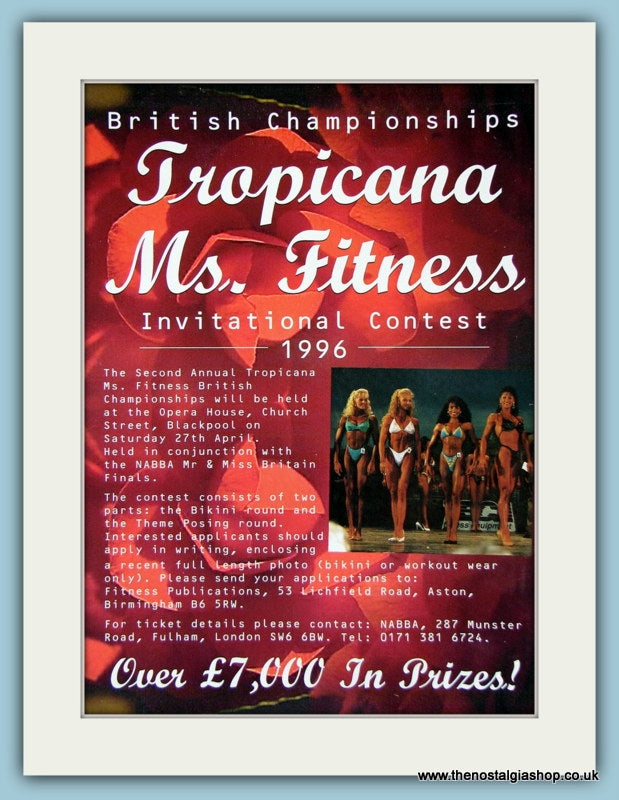 Tropicana Ms Fitness Original Advert 1996 (ref AD3921)