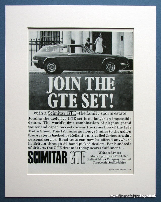 Scimitar GTE  1969 Original Advert (ref AD1617)