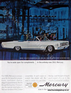 Ford Mercury 1965. Original Advert (ref AD4043)