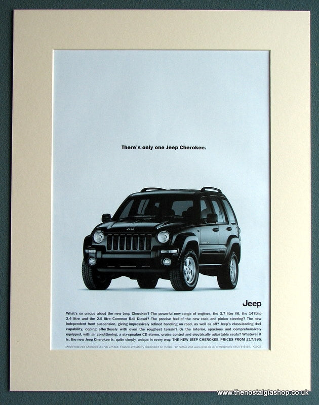 Jeep Cherokee 2002 Original Advert (ref AD1741)