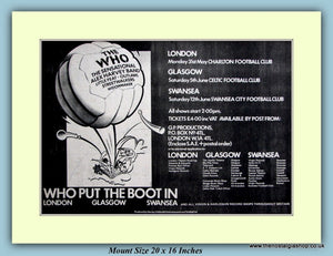 The Who Tour Dates Original Advert 1976 (ref AD9076)