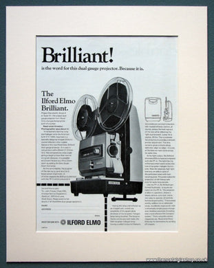 Ilford Elmo Projector 1968 Original Advert (ref AD1068)