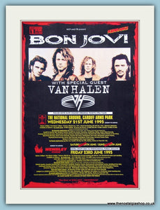 Bon Jovi with Van Halen 1995 Tour, Original Advert (ref AD3278)