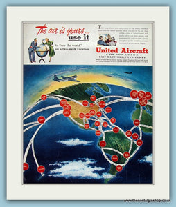 United Aircraft Original Advert 1950 ( Ref AD8257)
