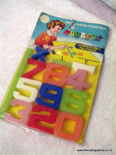 Load image into Gallery viewer, Numbers, Set of Polythene for kids. 1960s. (ref nos060g)