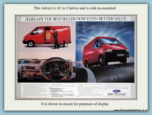 Ford Transit 1988. Large Original Advert. (ref AD2988)