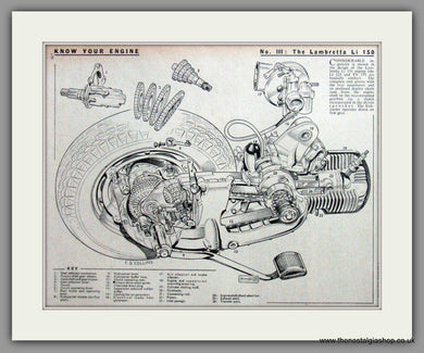 Lambretta Li 150 Cutaway Drawing. Original advert 1960 (ref AD52523)