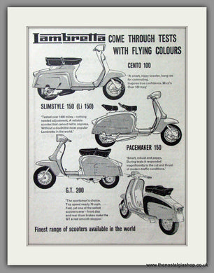 Lambretta Range for 1965. Original advert 1964 (ref AD52541)