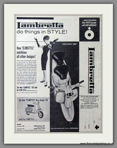 Lambretta 125 and 175 Slimstyle. Original advert 1962 (ref AD52660)