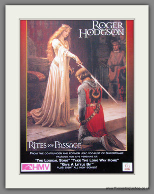 Roger Hodgson. Rites Of Passage. 1997 Original Advert (ref AD54367)
