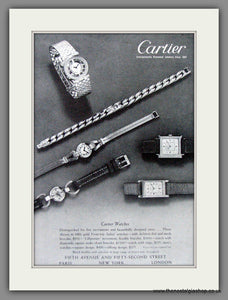 Cartier Watches. Original American Advert 1949 (ref AD52981)