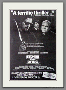 A Prayer For The Dying. 1988 Original Advert (ref AD53940)