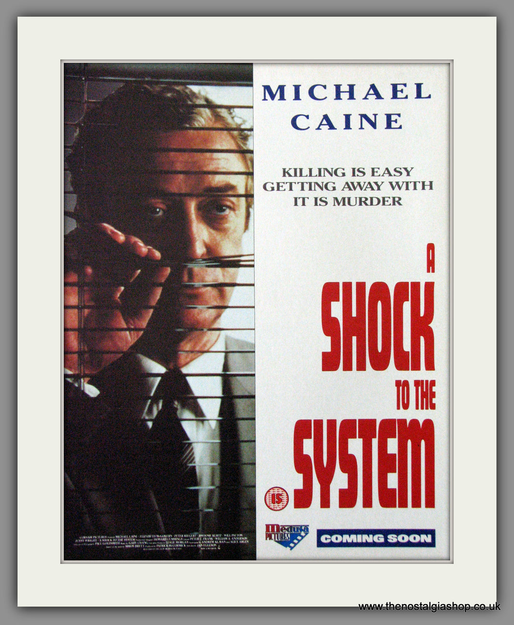 A Shock To The System. 1990 Original Advert (ref AD54211)
