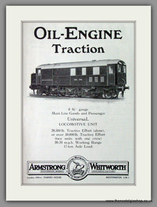 Armstrong Whitworth & Co. Oil Engine Traction. Original Advert 1933 (ref AD53215)