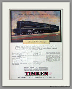 Timkin Roller-Bearing Axle Boxes. Original Advert 1945 (ref AD53299)