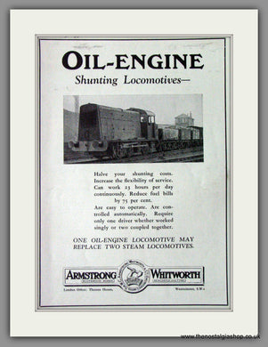 Armstrong Whitworth & Co. Oil Engine Traction. Shunter. Original Advert 1932 (ref AD53217)