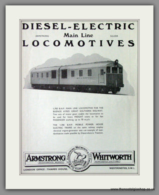 Armstrong Whitworth & Co. Oil Engine Traction. Original Advert 1933 (ref AD53218)