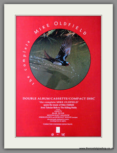 Mike Oldfield. The Complete. 1985 Original Advert (ref AD53976)