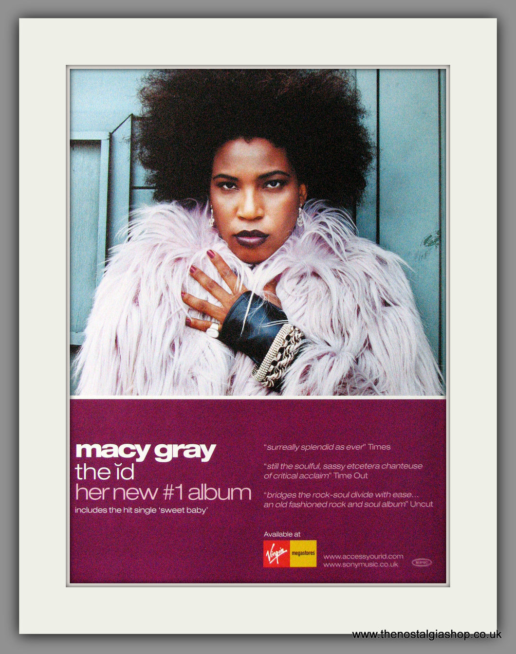 Macy Gray. The Id. Debut Album. 2001 Original Advert (ref AD54059)